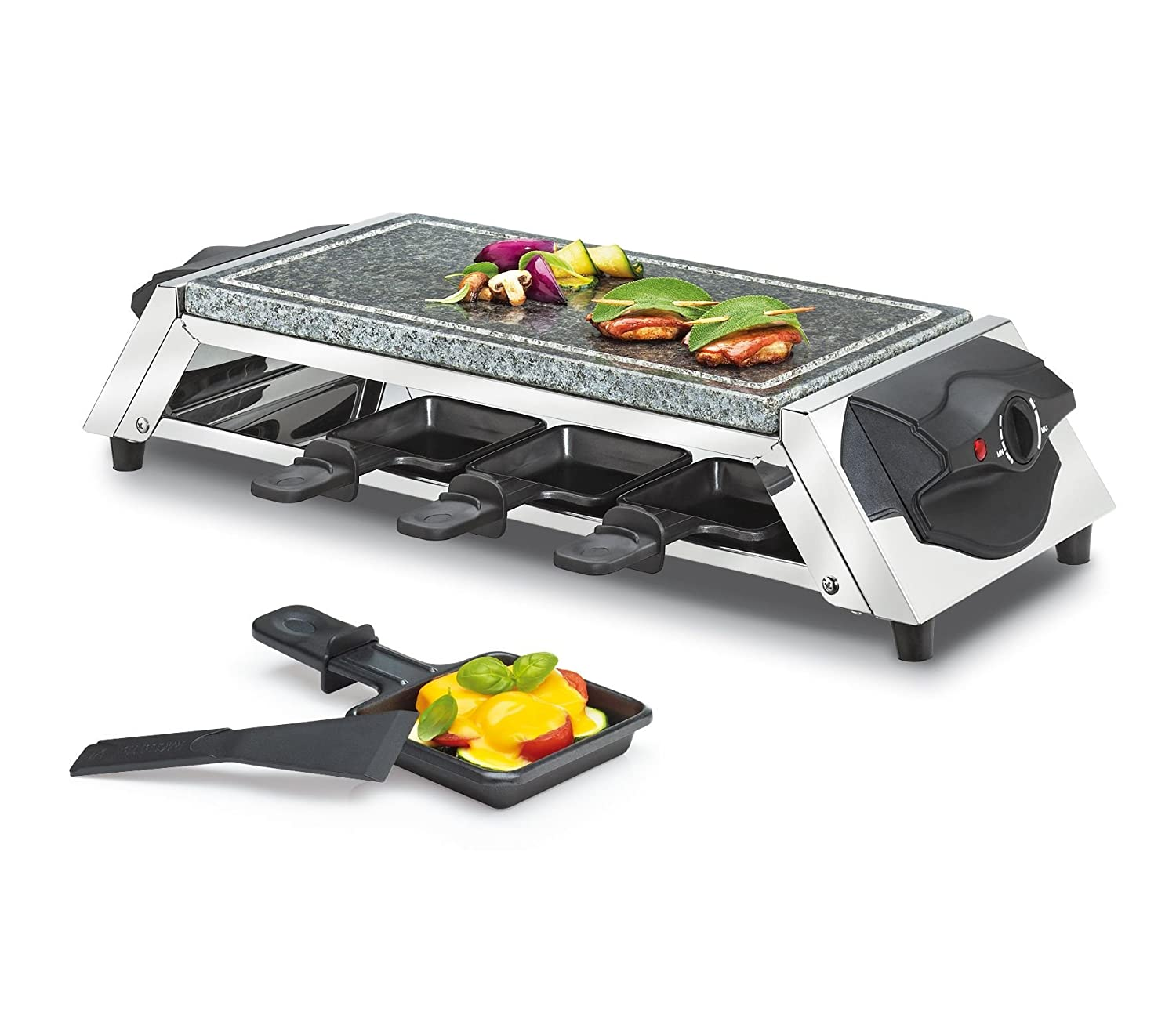 Küchenprofi KP17820000 Raclette Style Hot Stone with 8 Trays Gilberts
