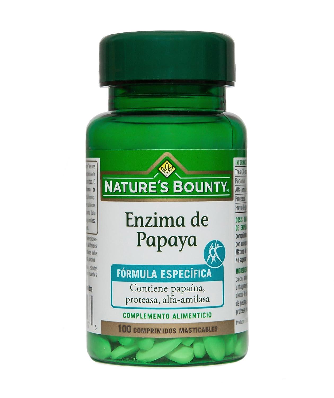 Natures Bounty Enzima de Papaya - 100 Comprimidos: Amazon ...