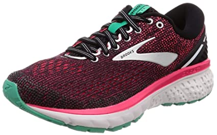 feb588f7c11 Image Unavailable. Image not available for. Color  Brooks Womens Ghost 11 -  Black Pink Aqua ...