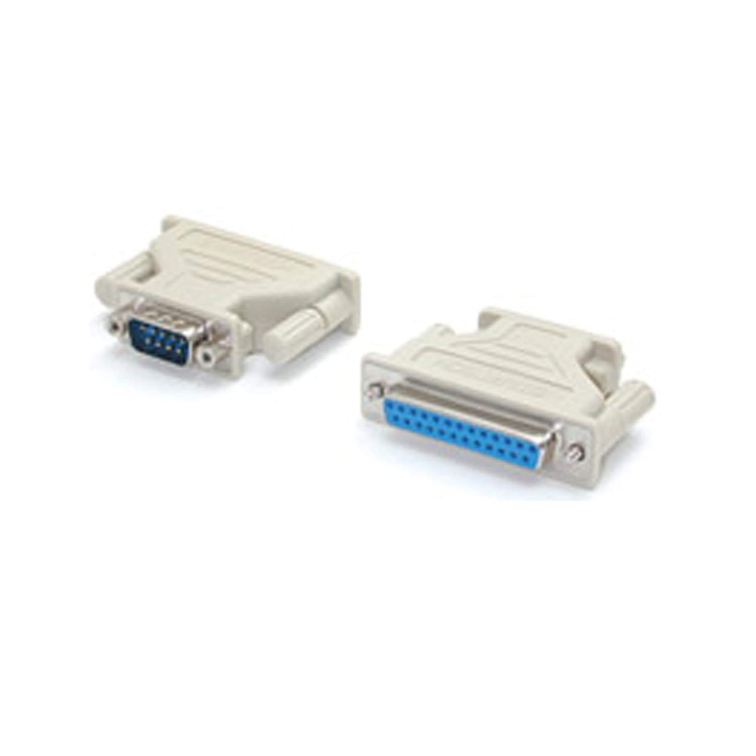 Beige C2G 02446 DB9 Female to DB25 Male Serial RS232 Adapter