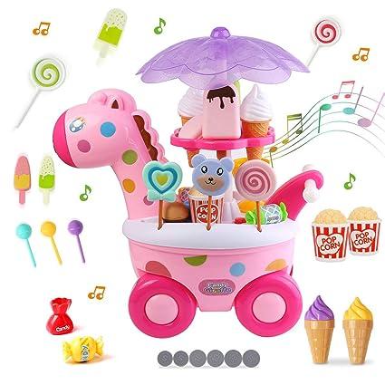 Amazon.com: Mini juego de carrito de caramelo de helado ...