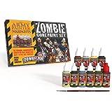 Warpaints Starter Paint Set with FREE Paintbrush - Zombie Miniature Painting Set, 10 Dropper Bottles of Zombicide Paints for