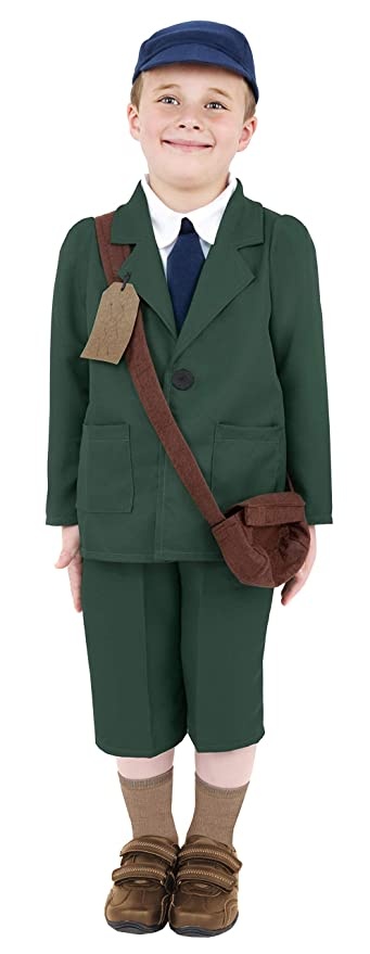 1940s Children's Clothing: Girls, Boys, Baby, Toddler Smiffys World War Ii Evacuee Boy Fancy Dress Costume Boys (1920S) $40.40 AT vintagedancer.com