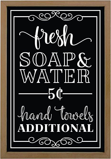 Amazon Com Vintage Bathroom Decor Signs Rustic Cute Farmhouse Sign For Restroom Kitchen Bath Outhouse Wall Funny Wood Home Decorations Decorative Wooden Art Quotes For Bathrooms Toilet 9 X13 Black Home