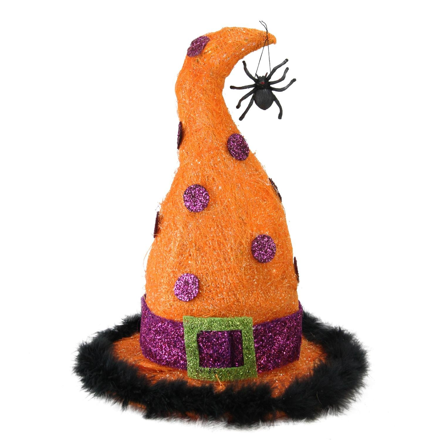 Northlight 15.75'' Lighted Sisal Witch's Hat Halloween Outdoor Decoration