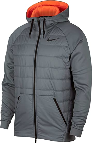 c5b1d5bfa Nike Men's Winterized Therma Full Zip Jacket(Cool Grey/Hyper Crimson, ...