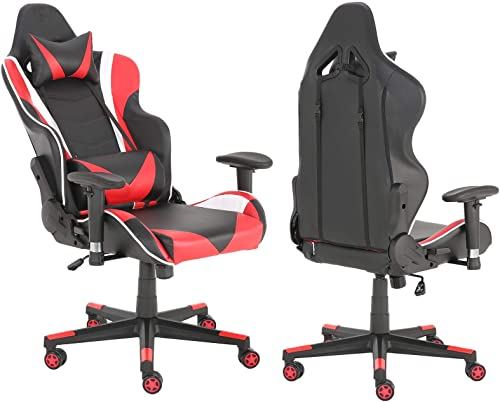 Editors' Choice: Gaming Chair Racing High Back Office Computer Game Video Chair Ergonomic Backrest and Seat Height Adjustment Recliner Swivel Rocker