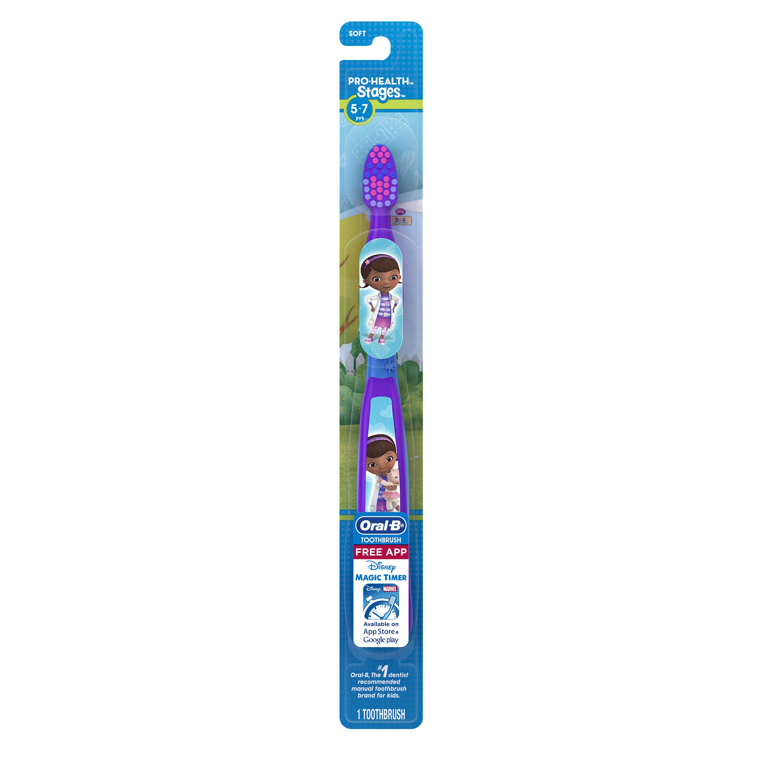 Oral-B Pro Health Stages Toothbrush, Pack Of 6 (Packaging May Vary) Ages 5-7