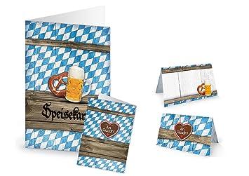 DIY Bayerische Tisch Deko Set (für 25   30 Gäste) In Blau