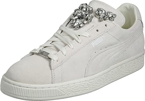 PUMA White Basket Jewels Women's