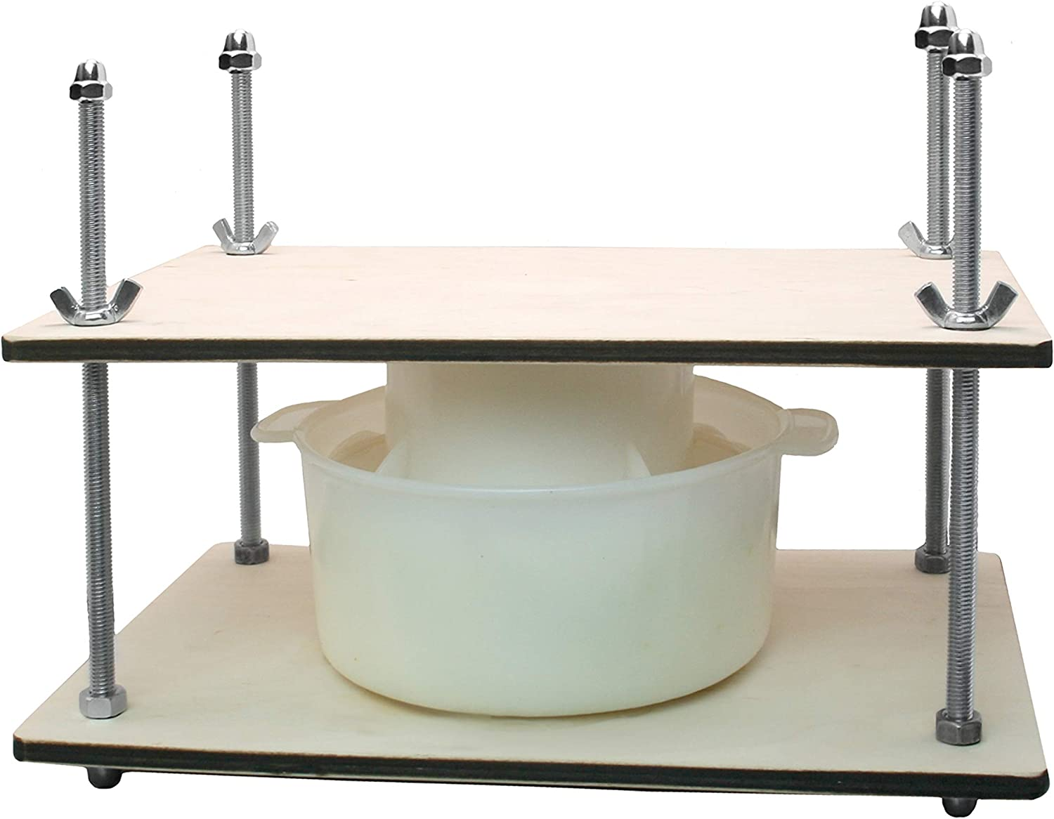 ?heese Making Kit 12 in (Metal Guides Cheese Press + 1 Cheese Making mold 1.2 L) pressure up to 50 pounds