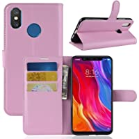 """Capa Capinha Carteira Case 360 Para Xiaomi Mi 8 Normal De Tela 6.21"""" (Não serve no Lite) Couro Sintético Flip Wallet Para Cartão - Danet (Rosa)"""