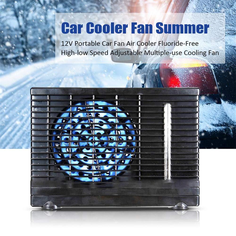 Accesorios Que dise/ñan del Verano Ajustable de la Velocidad reservada Mini Huaqiang Refrigerador de Aire port/átil de la Fan del Coche 12V