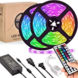 LED Strip Lights, UMICKOO Led Rope Lights 32.8ft 10m with 44 Keys IR Remote and 12V 5A Power Supply Flexible Color…