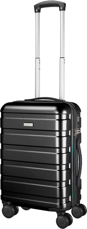 Amasava Maleta de Cabina, Maleta de Viaje PC + ABS, Maletas de Viaje Rigidas, Equipaje para Viajes en Avión 37L Negro