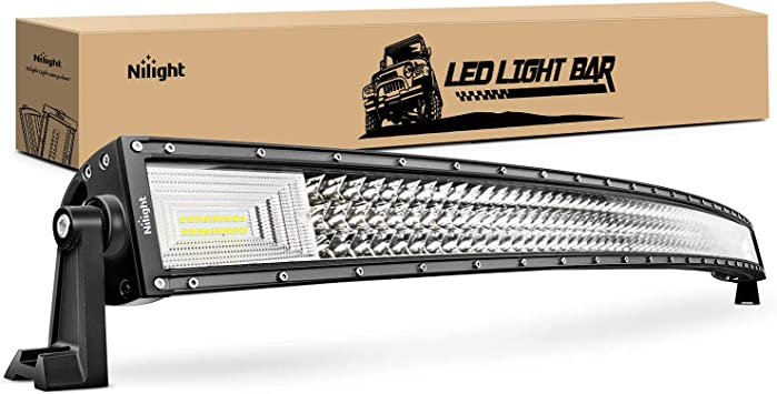 Curved 52 Inch 675W Tri-row LED Light Bar Combo Offroad Truck UTE FORD SUV SLIM