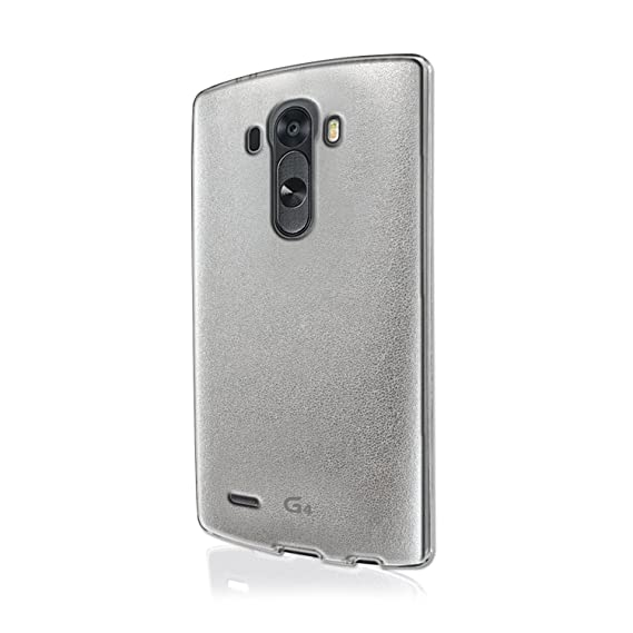 low cost 27a80 706d7 Amazon.com: VOIA Jell Skin Carrying Case for LG G4 - Retail ...