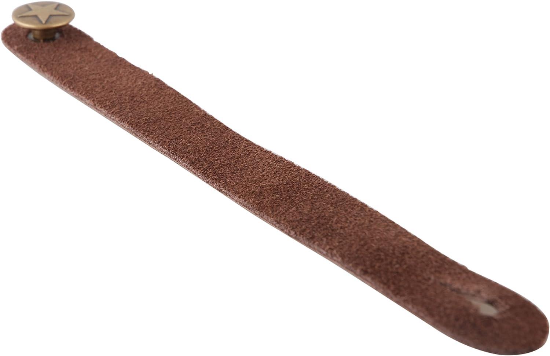 Fretfunk Acoustic Guitar Strap Button Brown