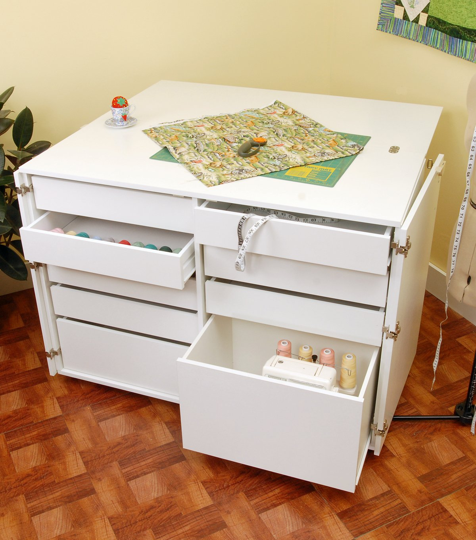 Nine Drawer Sewing Storage Cabinent Ash White Kangaroo Kabinets K7911 Dingo