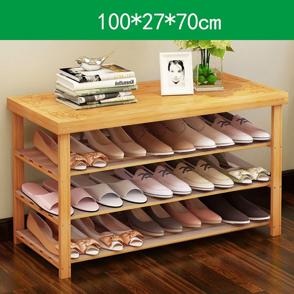 100CM shoes Bench Organizing Rack Natural Bamboo shoes Racks, Bench Chairs, Floor shoes, Assembly shoes Storage Rack