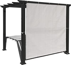 Alion Home Sun Shade Privacy Panel with Grommets and Hems on 4 Sides for Patio, Awning, Window, Pergola or Gazebo - Smoke Tan (8' x 10')