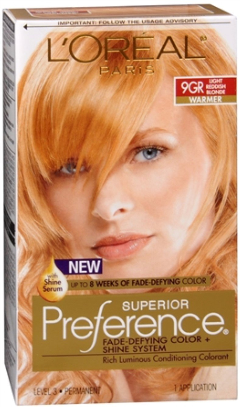 L'Oreal Superior Preference - 9GR Light Reddish Blonde (Warmer) 1 Each (Pack of 5) by L'Oreal Paris