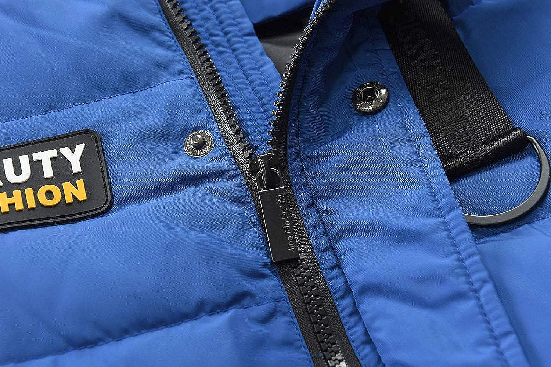 Kinder Jungen Daunenjacke Winterjacke Steppjacke/Verdickte Lange k/älteschutz Wintermantel Mantel Parka Trenchcoat Outerwear mit Fellkapuzen