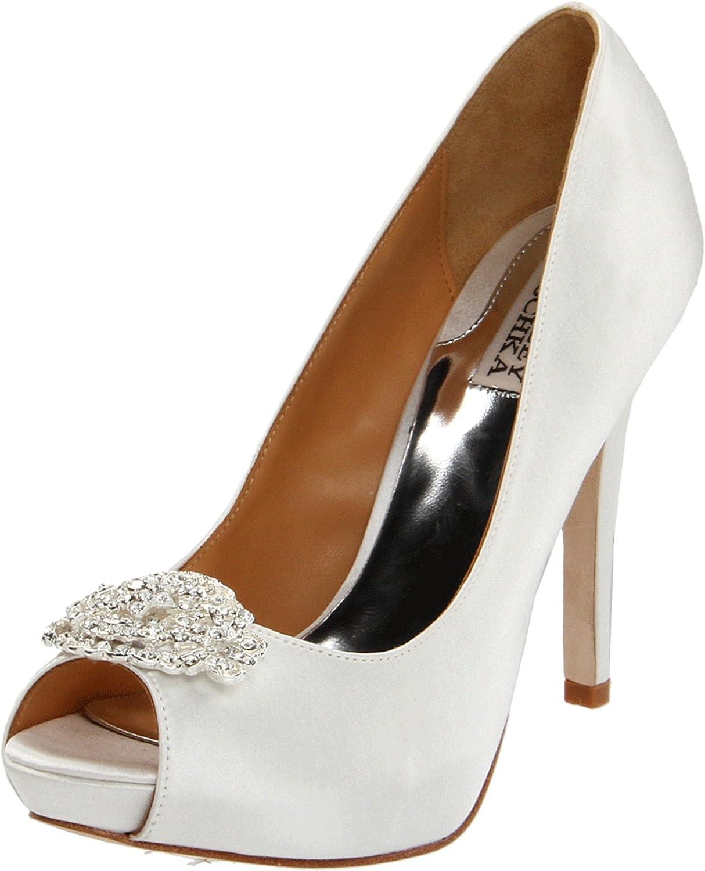 58f1afa9d92 Amazon.com  Badgley Mischka Women s Goodie Peep-Toe Pump  Badgley Mischka   Shoes