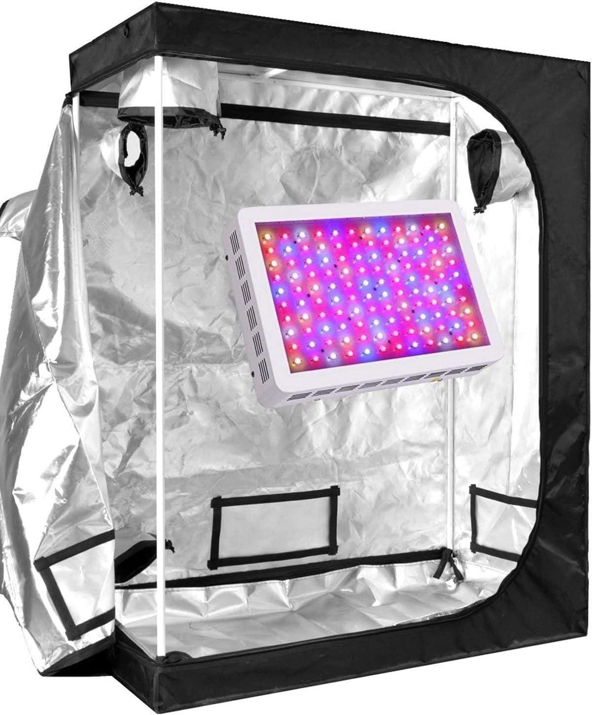 Penseetek 600W Led Grow Light Kits with Indoor Grow Tent Grow Lights and Grow Tent Complete Kit for Indoor Plants 600W LED Grow Light 48X24X60 INCH Grow Tent