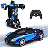 New Transformrobot RC Cars Robot for Kids Remote Control Vehicle Toys with One-Button Deformation, 360°Rotating Drifting and