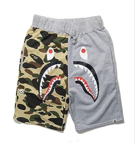 f166a6c43c XiYunHan Pantalones de Playa Casual de Camuflaje de los Hombres Pantalones  Cortos de algodón Sueltos Pantalones