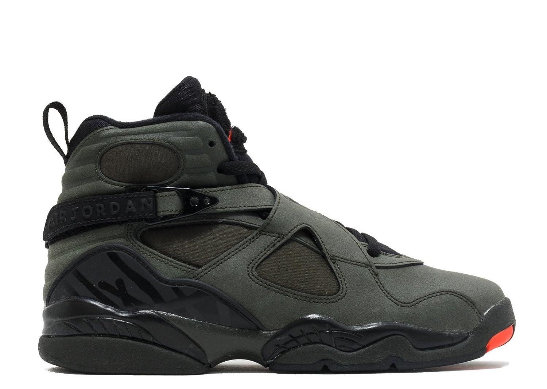 sports shoes 0d4dc 1728b Amazon.com   Jordan 8 BG Big Kid Shoes Sequoia Black Max Orange 305368-305    Basketball