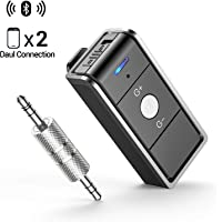 Ainope Bluetooth 4.2 Adapter with AUX Adapter 3.5mm Stereo