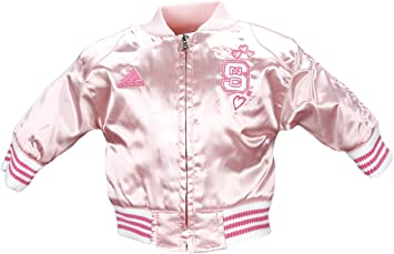 Adidas Infant Baby Girls Indiana Hoosiers Varsity Cheer Jacket Pink