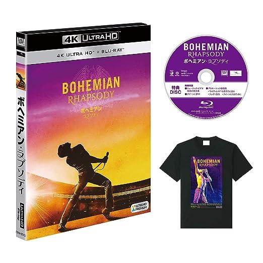 【Amazon.co.jp限定】ボヘミアン・ラプソディ (2枚組)(特典映像ディスク&オリジナルTシャツ付き)[4K ULTRA HD + Blu-ray]