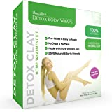 Brazilian Detox Clay Body Wraps [8-Applications] Slimming Home Spa Treatment for Cellulite, Weight Loss, Stretch Marks | Natural, Purifying Detoxifier for Smooth, Toned Skin