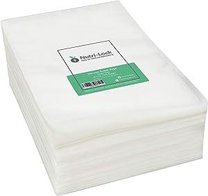 Nutri-Lock Vacuum Sealer Bags. 300 Quart Bags 8x12 Inch. Commercial Grade Food Sealer Bags. Works with FoodSaver. Perfect for Sous Vide.