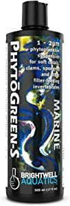 Brightwell Aquatics PhytoGreen S - Phytoplankton Liquid Food Suspension for Soft Corals, Clams, Sponges & Other Filter Feeders