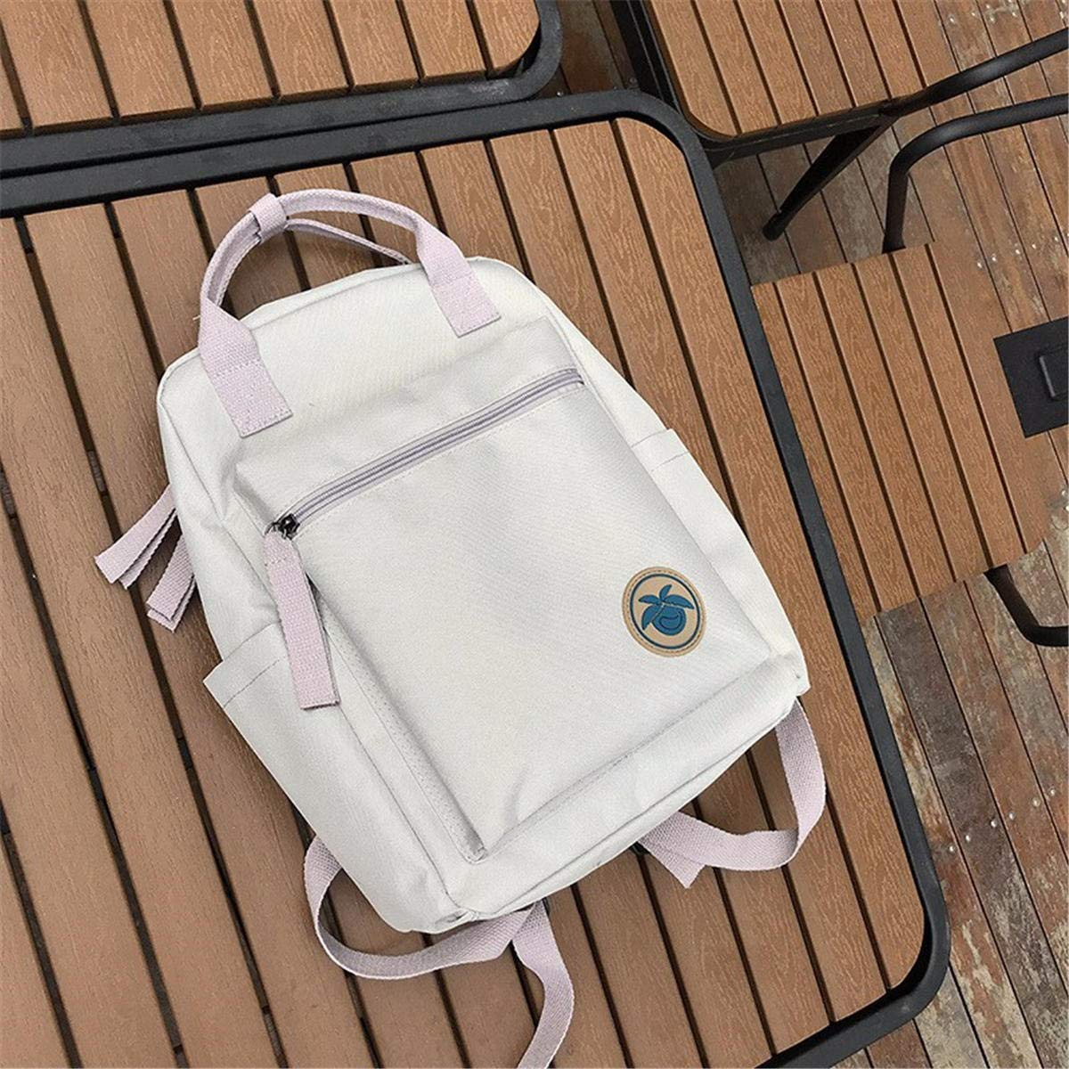 Grey 10L Canvas Backpack Student Bag Camping Waterproof Handbag 14 Inch Laptop Bag  Grey