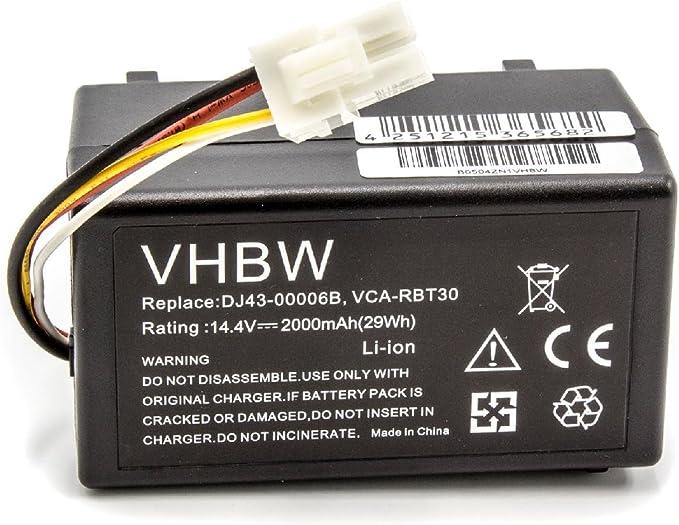 vhbw Batería Li-Ion 2000mAh (14.4V) para robot aspidador doméstico Samsung Navibot SR8940, SR8950, SR8980, SR8981, VCR8940 como DJ43-00006B, VCA-RBT30: Amazon.es: Hogar