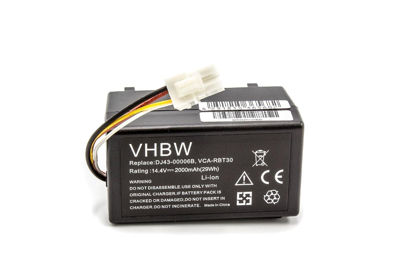 vhbw Batería Li-Ion 2000mAh (14.4V) para robot aspidador doméstico ...