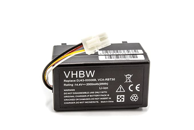 10 opinioni per vhbw Li-Ion Batteria 2000mAh (14.4V) per aspirapolvere Samsung Navibot SR8940,