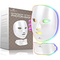 Project E Beauty Photon Skin Rejuvenation Face & Neck Mask | Wireless LED Photon Red Blue Green Therapy 7 Color Light…