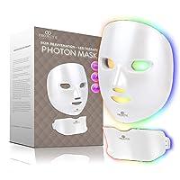 Project E Beauty Photon Skin Rejuvenation Face & Neck Mask | Wireless LED Photon...