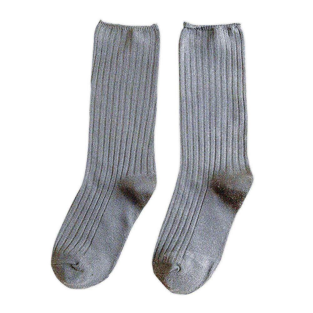 Biback Mori Japanese Style Autumn And Winter Socks Thin Socks Solid Color