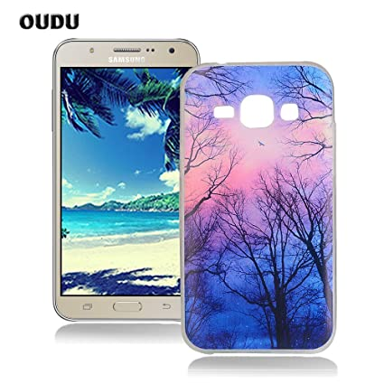 OuDu Silicone Case for Samsung Galaxy J7 2015 SM-J700F Soft TPU Rubber Cover Flexible Slim Case Smooth Lightweight Skin Ultra Thin Shell Creative ...