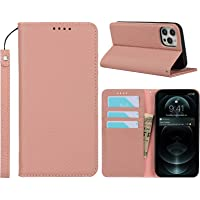 Frolan iPhone 12/12 Pro Wallet Case Genuine Leather, Luxurious Premium Cow Leather Flip Magnetic Kickstand Card Holder…