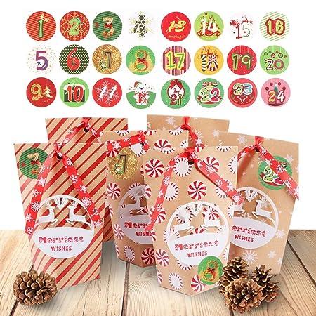 Diy Adventskalender Set Kraftpapier Weihnachtskalender Zum Selber
