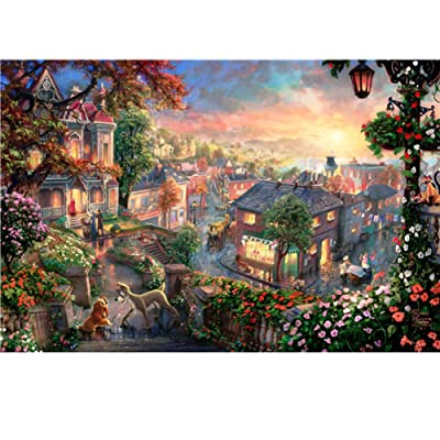 Konren Puzzles for Adultsand Kids 1000 Piece Large Puzzle, Quiet Town Landscape Jigsaw Puzzle, DIY Collectibles Modern Home Decoration, Large Puzzle Game Toys Gift: Toys & Games