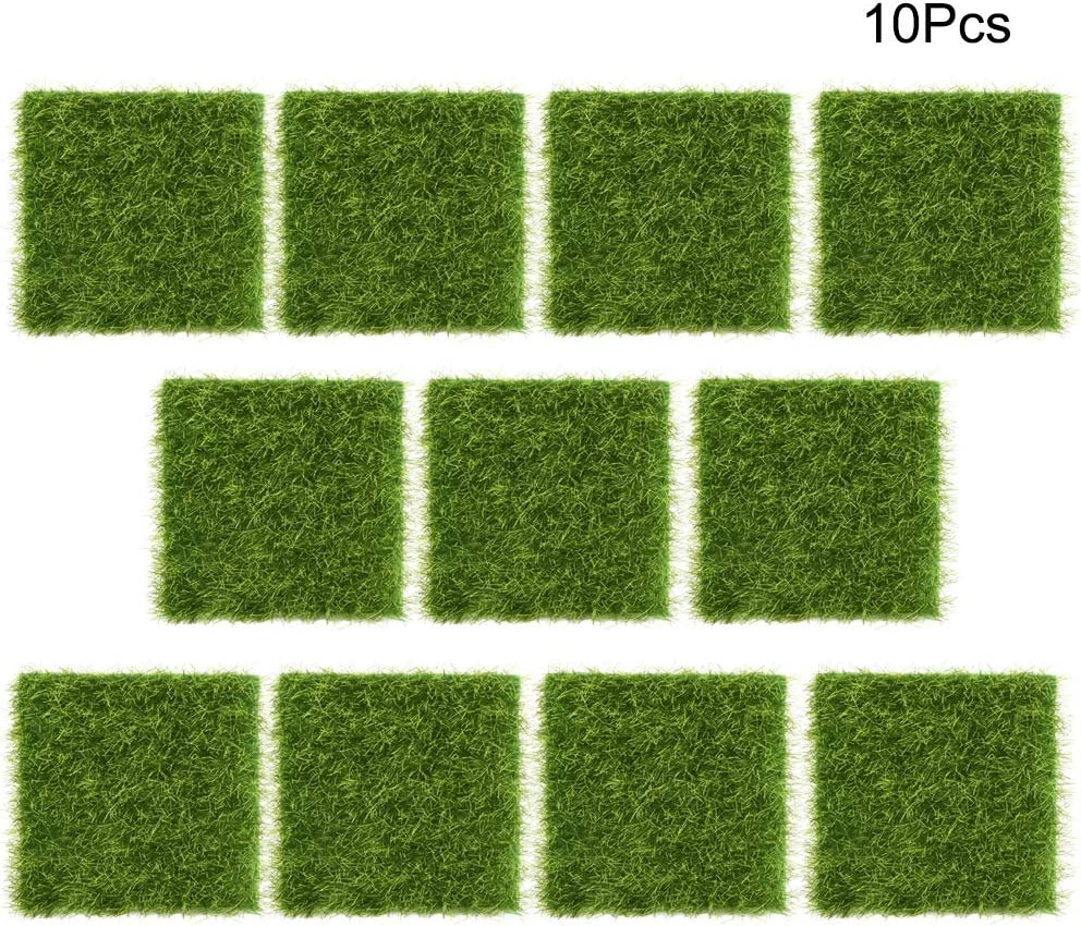Tapis de Gazon synth/étique synth/étique pour Animaux domestiques et Enfants Lavable 7,5 * 7,5 cm pour Jardin Maison Paysage int/érieur//ext/érieur Zwindy 10 pi/èces Herbe Artificielle